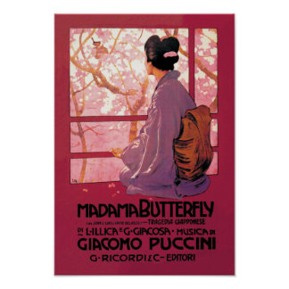 Madama Butterfly Opera Poster