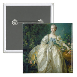 Madame Bergeret, c. 1766 (oil on canvas) 15 Cm Square Badge