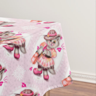 "MADAME CAT 2 Tablecloth COLOR LIPS 60""x104"""