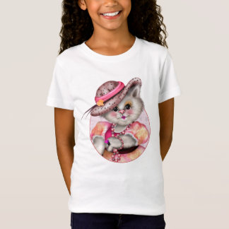 MADAME CAT  CARTOON Girls' Fine Jersey T-Shirt 2