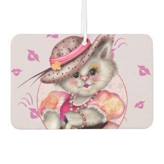 MADAME CAT CARTOON Landscape R Air Freshener
