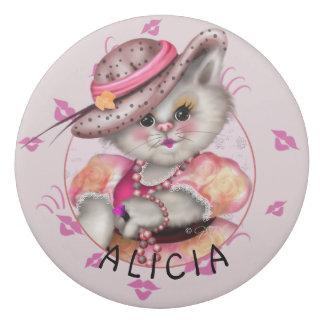 MADAME CAT CARTOON Round Eraser