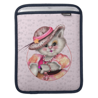 MADAME CAT CUTE CARTOON iPad iPad Sleeve