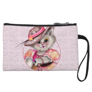 MADAME CAT Mini Clutch Bag Wristlet Clutch