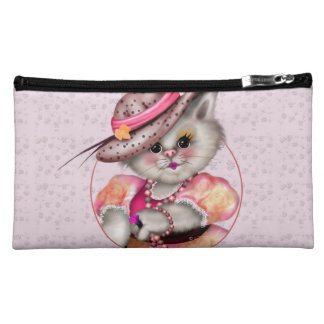 MADAME CAT Sueded Medium Cosmetic  Bag