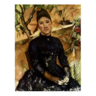 Madame Cezanne in the Conservatory Postcard