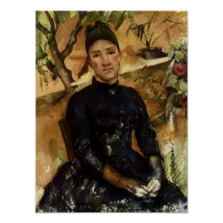 Madame Cezanne in the Conservatory Posters