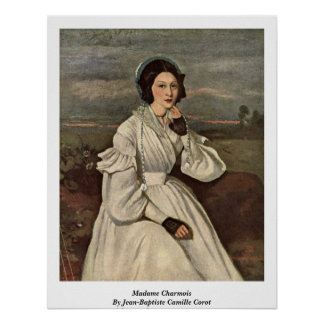 Madame Charmois By Jean-Baptiste Camille Corot Poster