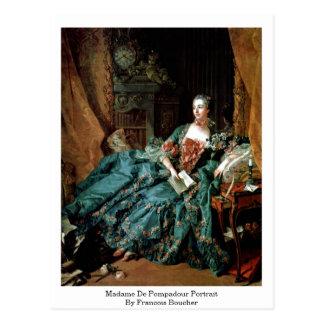Madame De Pompadour Portrait By Francois Boucher Postcard