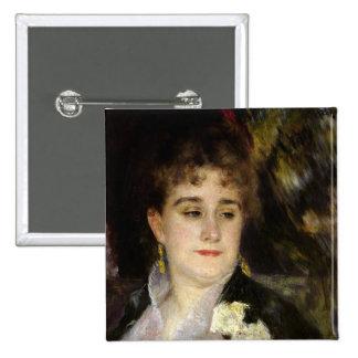 Madame Georges Charpentier , c.1876-7 15 Cm Square Badge