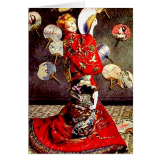 Madame in a Japanese Costume by Monet Notecard