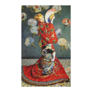 Madame in Japanese Kimono by Monet Canvas Print