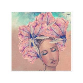 Madame Magnolia in Coloure Canvas Print