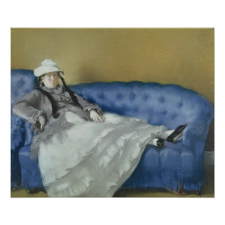 Madame Manet on a Blue Sofa, 1874 Posters