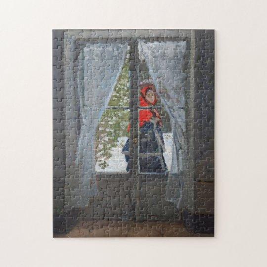 Madame Monet/Green Cape Monet Fine Art Jigsaw Puzzle