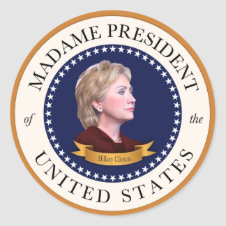 Madame President of the United States Classic Round Sticker