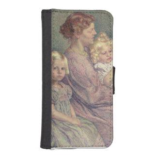 Madame van de Velde and her Children, 1903 iPhone 5 Wallet
