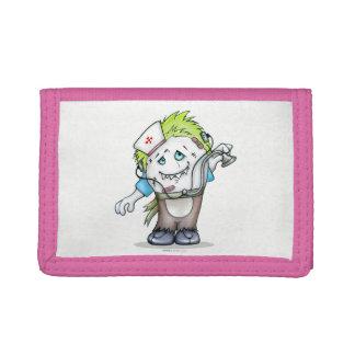 MADDI ALIEN CARTOON TriFold Nylon Wallet PINK
