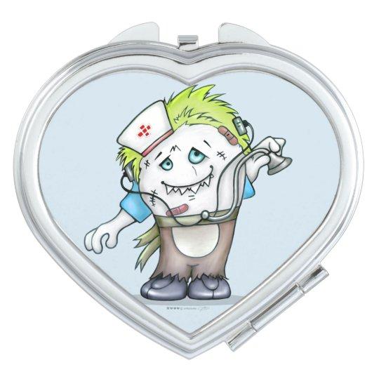 MADDI ALIEN MONSTER CARTOON compact mirror HEART