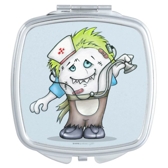MADDI ALIEN MONSTER CARTOON compact mirror SQUARE