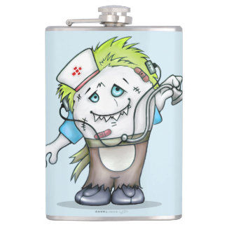 MADDI Vinyl Wrapped Flask MONSTER 3 - 8 onz