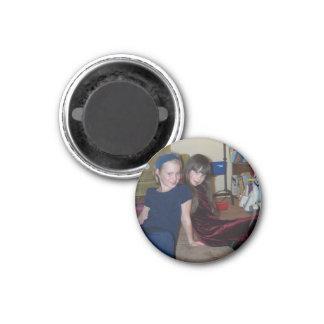 Maddie and Chloe 3 Cm Round Magnet