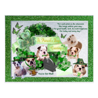 Maddie and Friends St Patty's You've Got Mail! Postcard