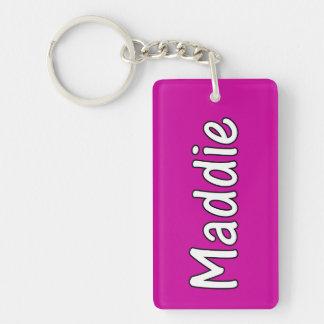 Maddie Single-Sided Rectangular Acrylic Key Ring
