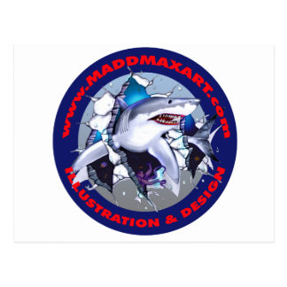 Maddmax Great White Shark Logo Postcard