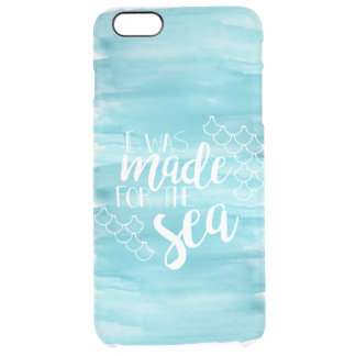 Made For The Sea Watercolor Clear iPhone Case