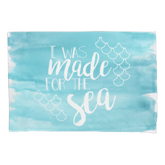 Made For The Sea Watercolor Pillow Case