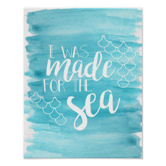 Made For The Sea Watercolor Poster