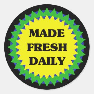 MADE FRESH DAILY Retail Sale Sticker