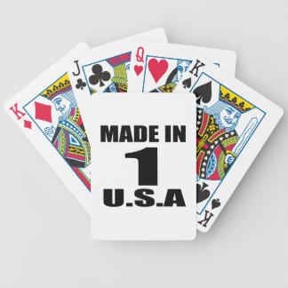 MADE IN 01 U.S.A BIRTHDAY DESIGNS BICYCLE PLAYING CARDS