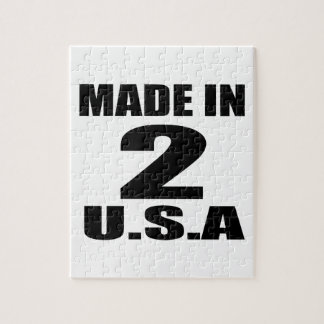 MADE IN 02 U.S.A BIRTHDAY DESIGNS JIGSAW PUZZLE
