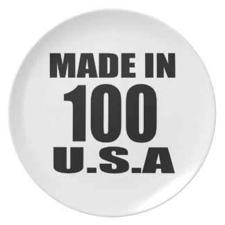 MADE IN 100 U.S.A BIRTHDAY DESIGNS PLATE