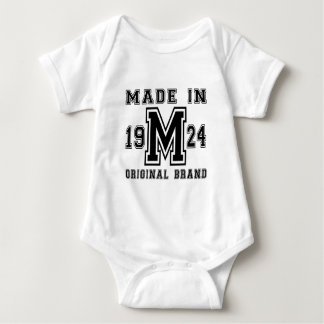 MADE IN 1924 ORIGINAL BRAND BIRTHDAY DESIGNS BABY BODYSUIT