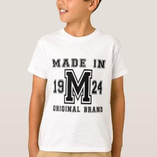 MADE IN 1924 ORIGINAL BRAND BIRTHDAY DESIGNS T-Shirt