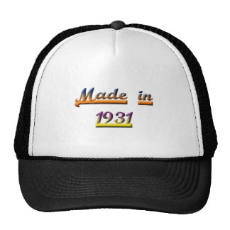 MADE IN 1931 CAP