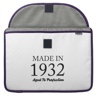 Made In 1932 MacBook Pro Sleeves
