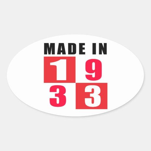 Made In 1933 Birthday Designs Sticker