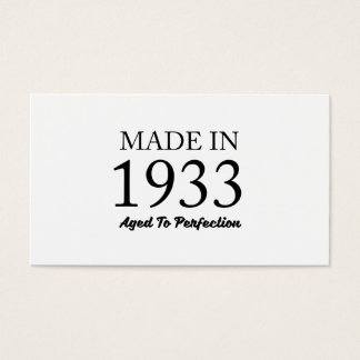Made In 1933 Business Card