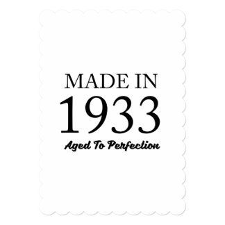 Made In 1933 Card