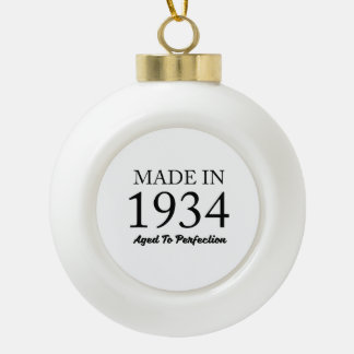 Made In 1934 Ceramic Ball Decoration