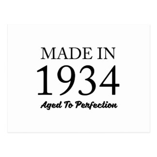 Made In 1934 Postcard
