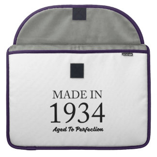 Made In 1934 Sleeves For MacBook Pro