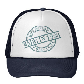 Made in 1936 cap