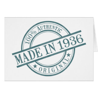 Made in 1936 card
