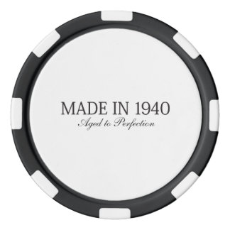 Made in 1940 set of poker chips