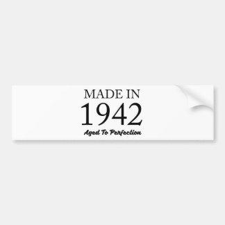 Made In 1942 Bumper Sticker